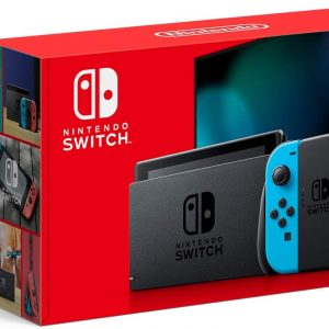 Get Nintendo Switch with Neon Blue and Neon Red Joy‑Con