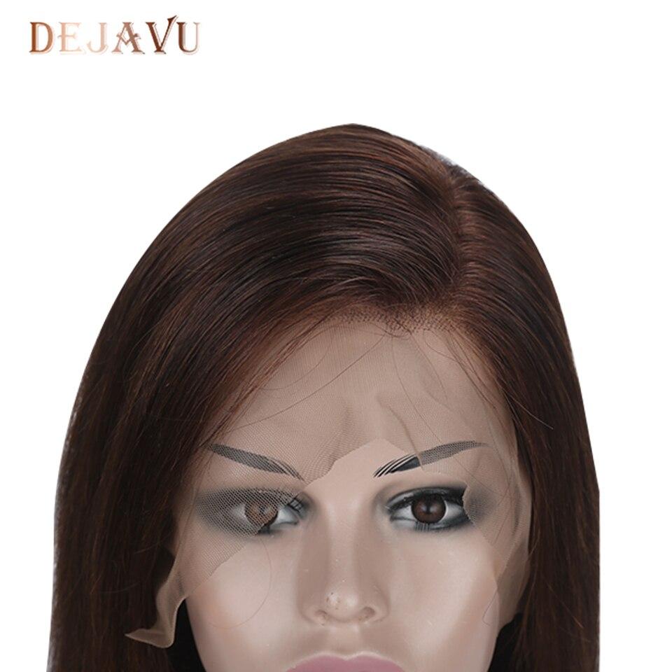 Dejavu Blonde Straight Hair Wigs Lace Front Human Hair Wigs 13x4 Lace 4# Brazilian Remy Hair Wigs for Women 130% Pre Plucked