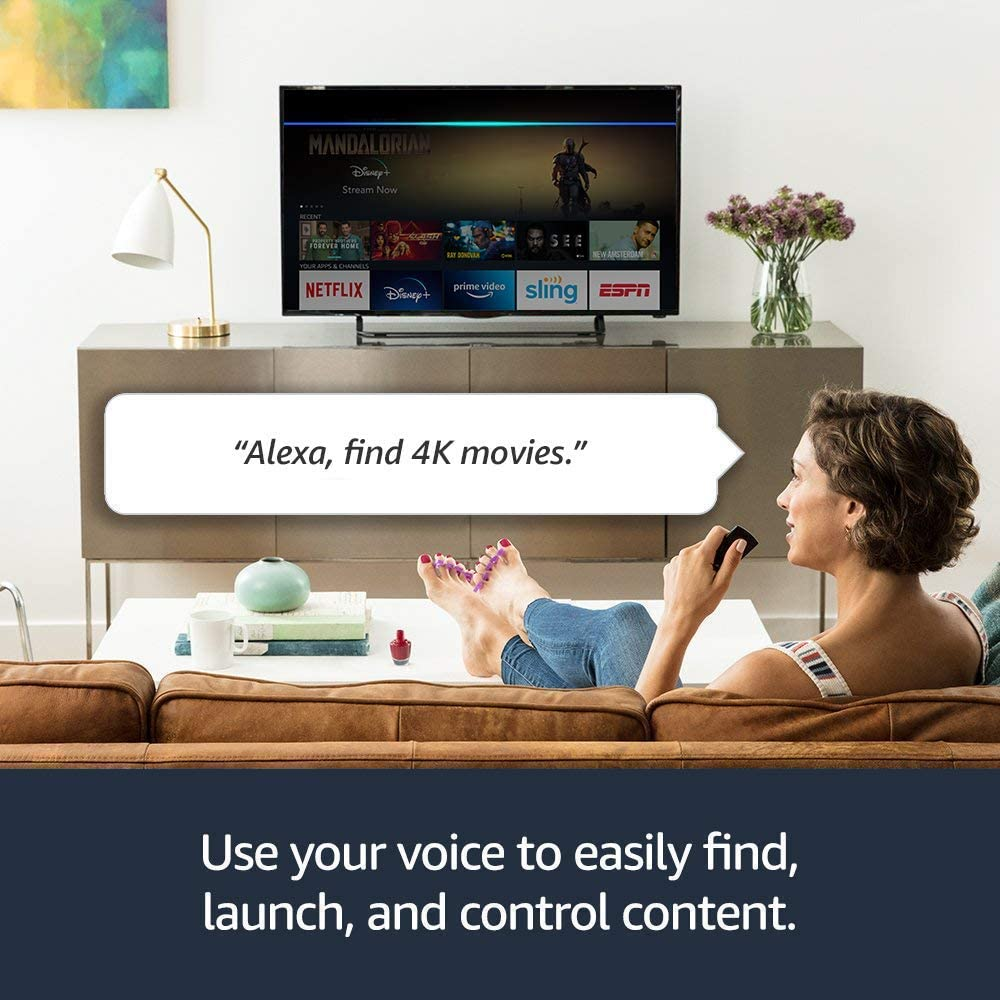 Fire TV Stick 4K streaming device with Alexa built in, Dolby Vision, includes Alexa Voice Remote