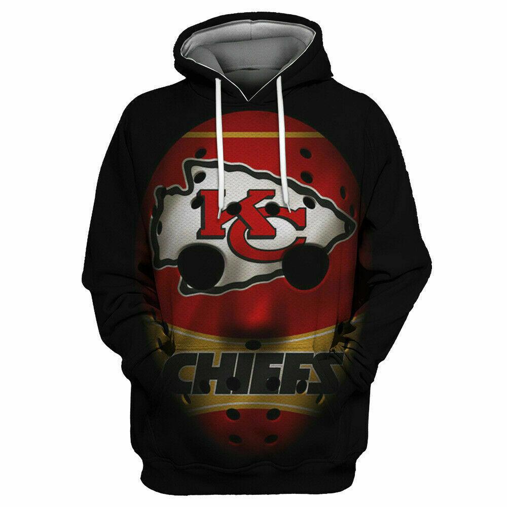 Kansas City Chiefs Hoodies Sport Sweatshirts Cosplay Hooded Pullover Jacket Coat