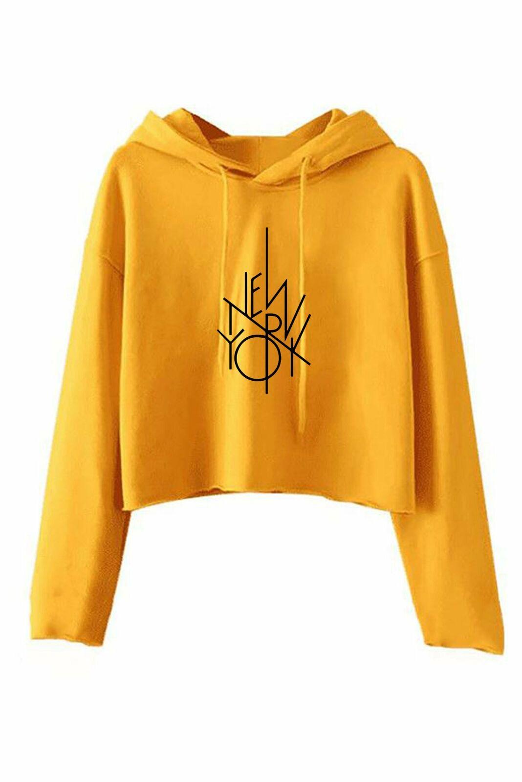 NYC Custom Printed Long Sleeve Ladies Hoodie