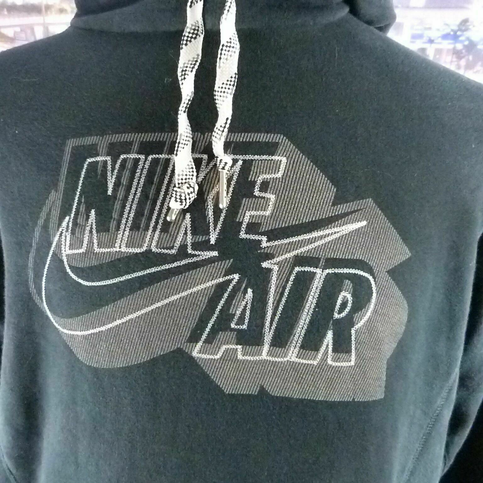 Nike Air blue 80% cotton spell out graphic blue Hoodie. UK men's size Large