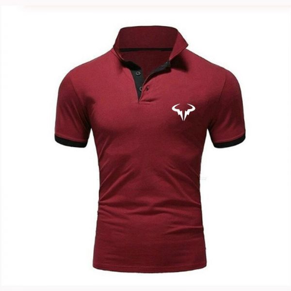 New Men's Polo Men's Casual Business Printing Men's Shirt Breathable Short Sleeve 10 Colors