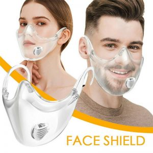 Reusable Transparent Face Shield With Breathing Valve