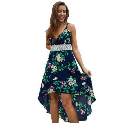 Sleeveless Women Evening Party Cocktail Dresses Dress beach Long women's Floral