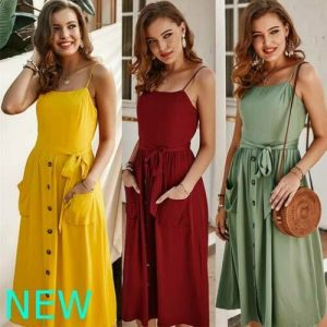 Floral Casual Sundress Summer Maxi Party Cocktail Womens Dress Evening