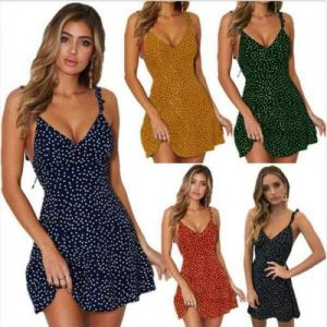 Short Sexy Boho Mini Dress Evening Summer Floral Party Sundress Beach Women's