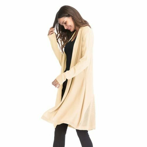 Long Sleeve Loose Outwear Jacket Cardigan Casual Knitted Womens Coat Sweater