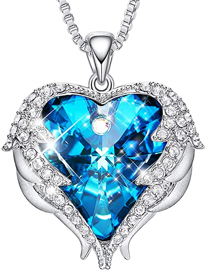 CDE Angel Wing Love Heart Necklaces for Women
