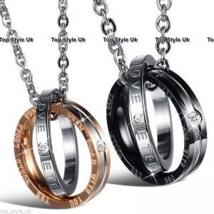 Rings Charm Chain Couple Necklace