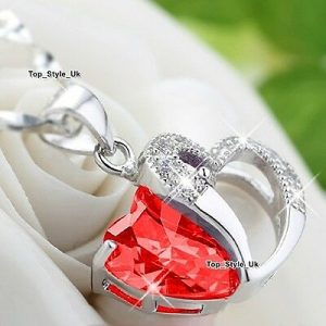 Silver 925 Ruby Necklace